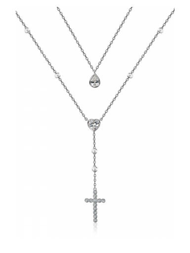 Колье двойное с крестом