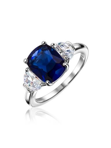 Кольцо среднее синий