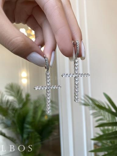 Серьги кресты большие 5,5 см